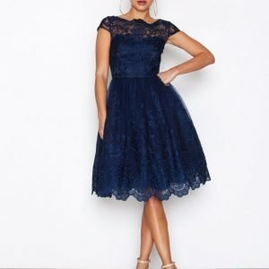 Chi Chi London April Dress Skater Mekko Navy