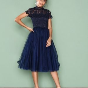 Chi Chi London Devon Dress Skater Mekko Navy