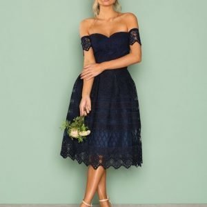 Chi Chi London Estelle Dress Skater Mekko Navy