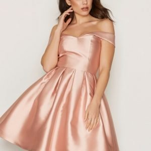 Chi Chi London Jade Dress Skater Mekko Rose Gold