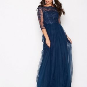 Chi Chi London Saskia Dress Maksimekko Navy