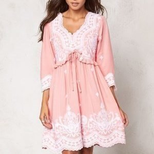 Chiara Forthi Alina Embroidered Dress Light pink / White