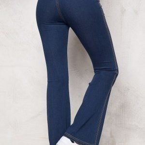 Chiara Forthi Bell Bottom Jeggings Blue denim