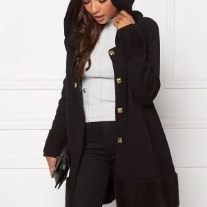 Chiara Forthi Bell Knit Coat Black / Gold