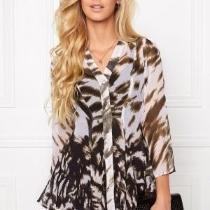 Chiara Forthi Border Print Blouse Snow/Black
