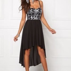 Chiara Forthi Camylle Highlow Dress Black / Silver