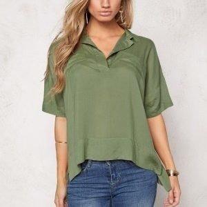 Chiara Forthi Canton Blouse Khaki green