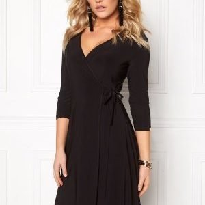 Chiara Forthi Chiara Wrap Dress Black