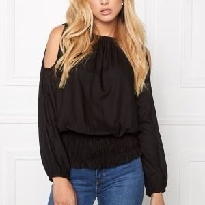 Chiara Forthi Cold Shoulder Top Black