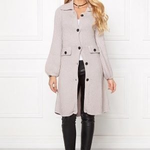 Chiara Forthi Cotton Knit Coat Ash Grey