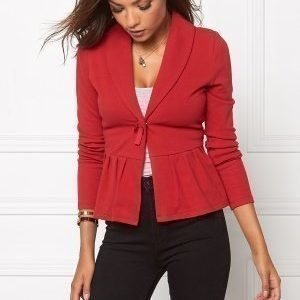 Chiara Forthi Cozy Bow Cardi Dark red