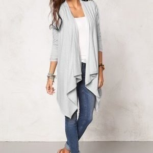 Chiara Forthi Dip Hem Cover-Up Light Grey Melange