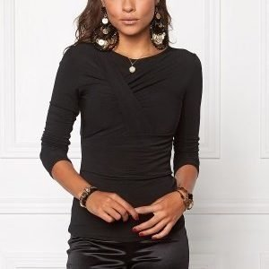 Chiara Forthi Emmy Draped Top Black