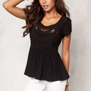 Chiara Forthi Fontazza Crochet Top Black