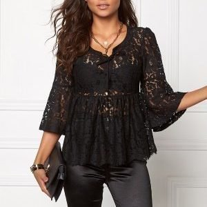 Chiara Forthi Giovanna Lace Top Black