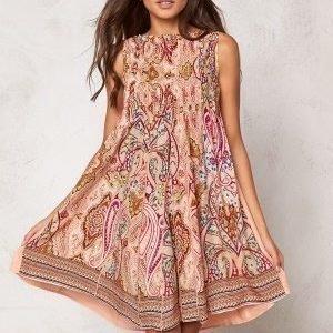 Chiara Forthi Giulia Pintuck Dress Pink Paisley