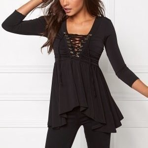Chiara Forthi Hailey 3/4-sleeve Top Black