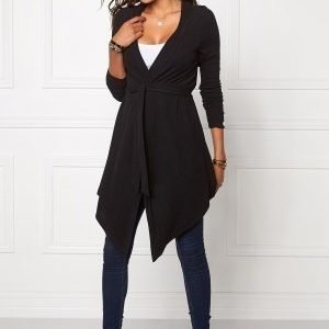 Chiara Forthi Highlow Cardi Black