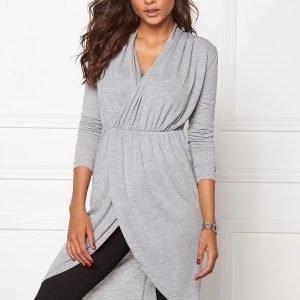 Chiara Forthi Ina Wrap Top Grey melange