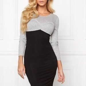 Chiara Forthi Intrend Bra Dress Black / Grey melange