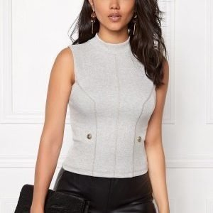 Chiara Forthi Intrend Buttoned Top Marled Grey