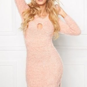 Chiara Forthi Keyhole Knit Dress Powder pink