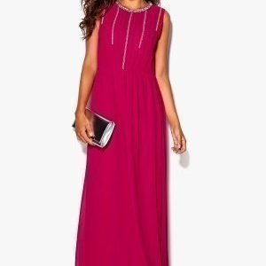Chiara Forthi Lavinia Embellished Dress Cerise