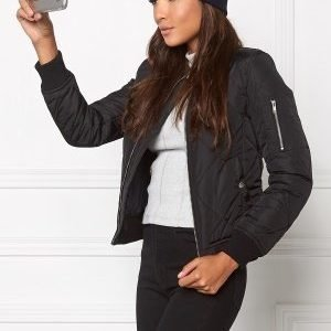 Chiara Forthi Mafioso Quilted Bomber Black