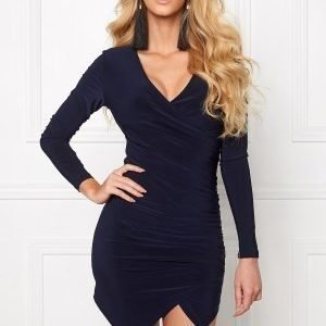 Chiara Forthi Mandy Wrap Dress Dark blue