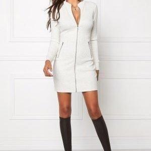 Chiara Forthi Ribbed Bodycon Dress/Jacket Grey melange
