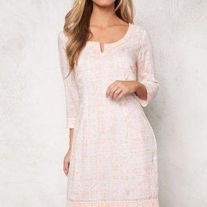 Chiara Forthi Riccia Modal Tunic Light Pink/Offwhite