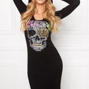 Chiara Forthi Scull N Roses Top Black