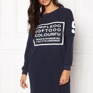 Chiara Forthi Sweatshirt Dress Midnight blue