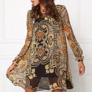 Chiara Forthi Swing Chiffon Dress Black / Amber