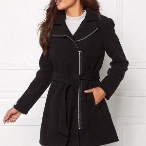 Chiara Forthi Tailored Zip Coat Black/Silver