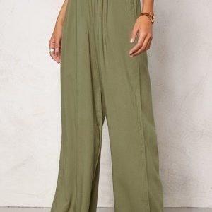 Chiara Forthi Ultra Soft Wide Pants Khaki green