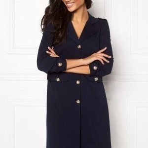 Chiara Forthi Utility Jersey Coatigan Blue-black
