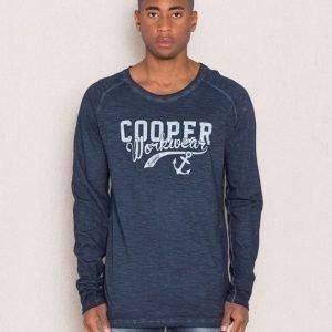 Clay Cooper Mace Long Sleeve Tee Blue