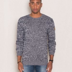 Clay Cooper Naval Knitted Sweater Blue/Off White
