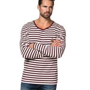 Clay Cooper Ocean L/S Wine Stripe