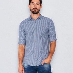 Clay Cooper Oscar Striped Shirt Blue