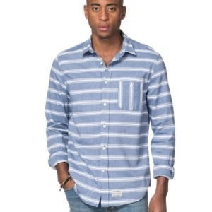 Clay Cooper Pylon Stripe Shirt Blue/White