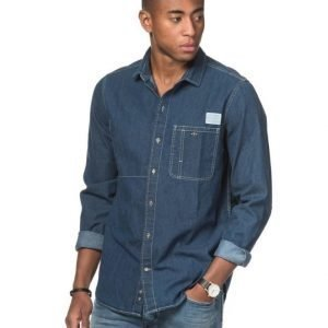 Clay Cooper Worker Denim Shirt Blue