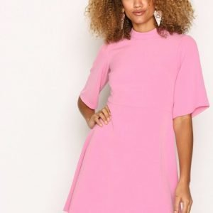 Closet High Collar A-Line Skirt Dress Loose Fit Mekko Pink
