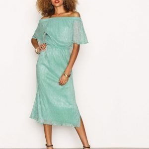 Closet Off The Shoulder Gathered Dress Maksimekko Green