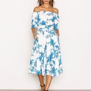 Closet Off The Shoulder Skater Dress Loose Fit Mekko Multi