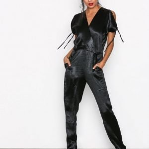 Closet V-Neck Jumpsuit Black