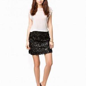 Club L 3d Floral Skater Skirt Midihame Musta