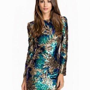 Club L Atlantis Palm Sequin Bodycon Dress