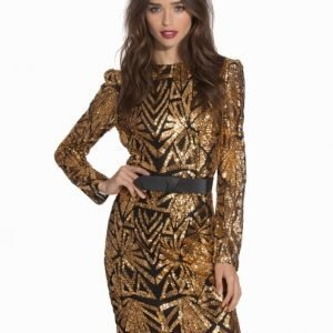 Club L Aztec Sequin Detail Bodycon Dress